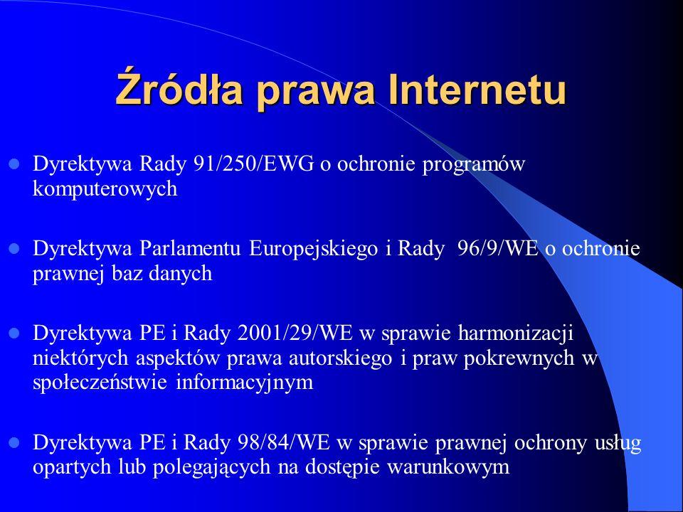 Źródła prawa Internetu - Polska Ustawa o podpisie elektronicznym z 18 września 2001 (Dz.U.