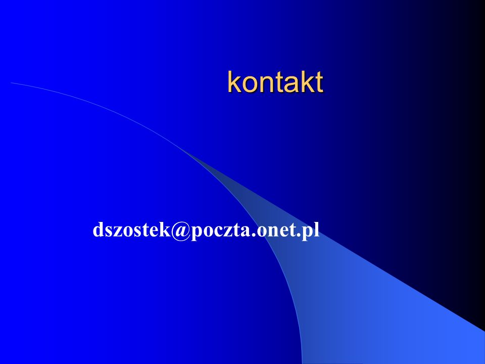 kontakt dszostek@poczta.onet.pl