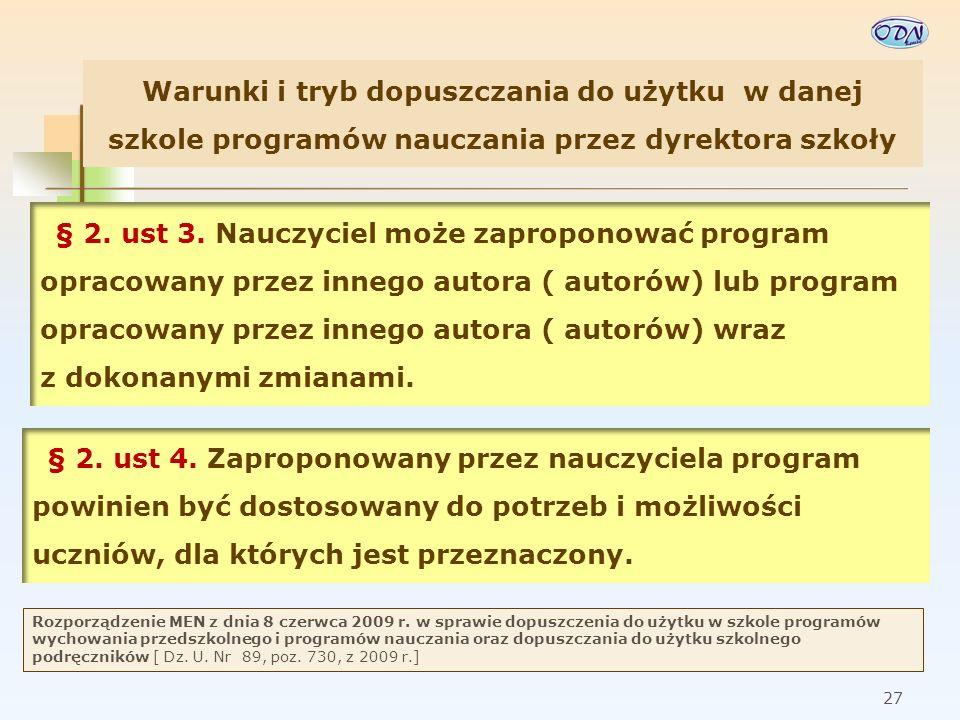 28 Rozporządzenie MEN z dnia 8 czerwca 2009 r.