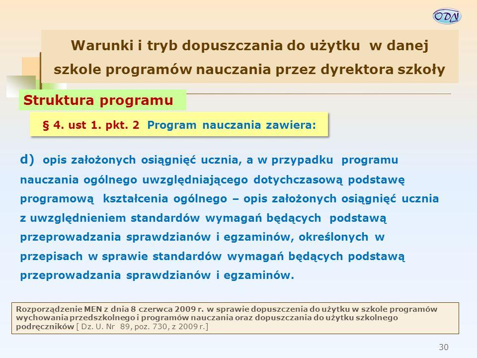 31 Rozporządzenie MEN z dnia 8 czerwca 2009 r.