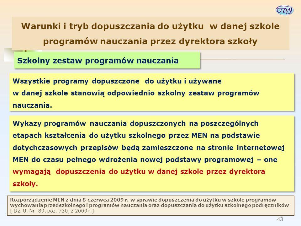 44 Kwalifikacje nauczyciela WDŻ § 2.ust 1.