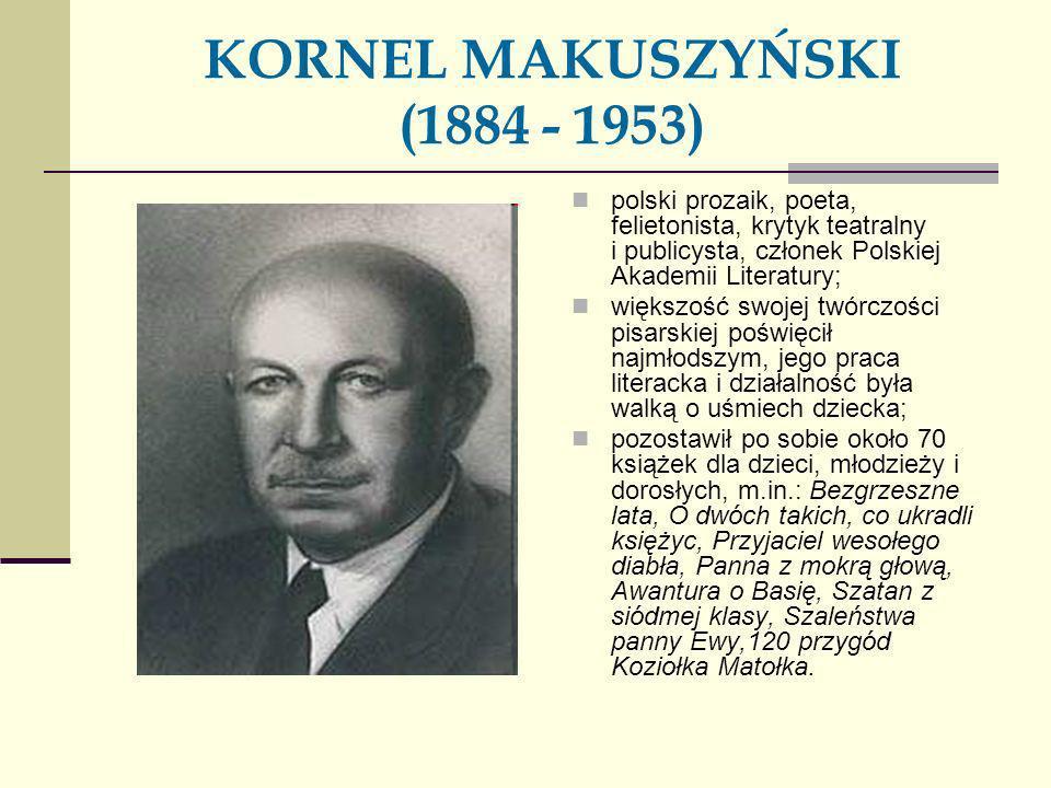 KORNEL MAKUSZYŃSKI (1884 - 1953) polski prozaik, poeta, felietonista, krytyk teatralny i publicysta, członek Polskiej Akademii Literatury; większość s