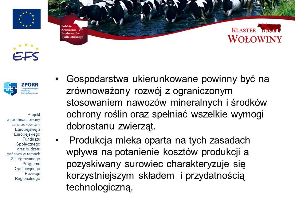 Projekt współfinansowany ze środków Unii Europejskiej z Europejskiego Funduszu Społecznego oraz budżetu państwa w ramach Zintegrowanego Programu Operacyjnego Rozwoju Regionalnego Gospodarstwa ukierunkowane powinny być na zrównoważony rozwój z ograniczonym stosowaniem nawozów mineralnych i środków ochrony roślin oraz spełniać wszelkie wymogi dobrostanu zwierząt.