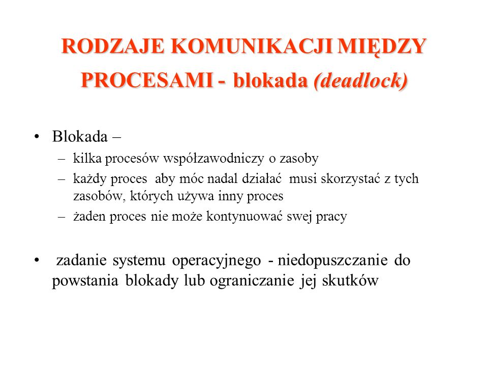 Producent - konsument W systemie pracuje P (P>=1) procesów producenta i K (K>=1) procesów konsumenta.