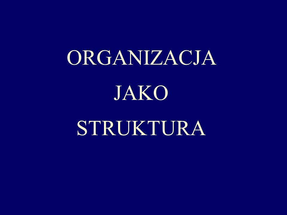 Struktura organizacyjna – istota organizacji zbiór różnych elementów organizacyjnych, czyli: pojedynczych stanowisk pracy, komórek i jednostek organizacyjnych oraz powiązań miedzy nimi zbiór określonych relacji zachodzących między elementami przedmiotu złożonego, nie uwzględniający elementów, tzn.