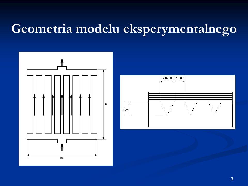 3 Geometria modelu eksperymentalnego