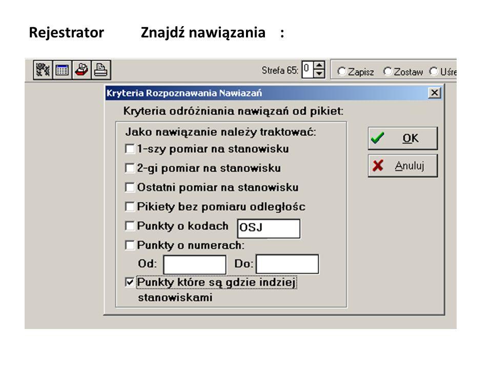 Rejestrator Znajdź nawiązania :