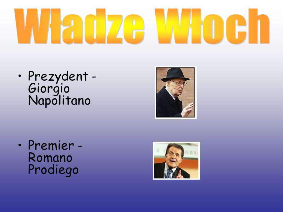 Prezydent - Giorgio Napolitano Premier - Romano Prodiego