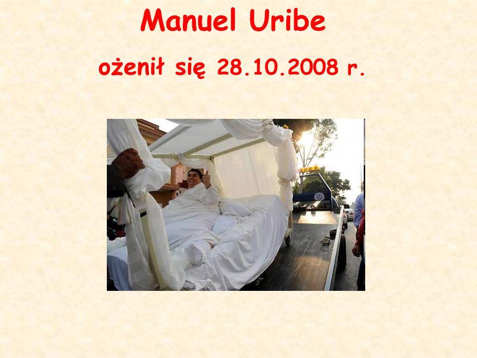 Manuel Uribe ożenił się 28.10.2008 r.