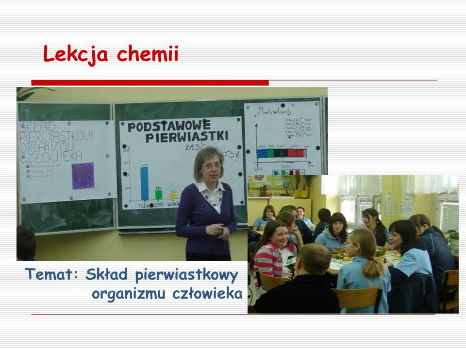 Lekcja chemii Temat: Skład pierwiastkowy organizmu człowieka