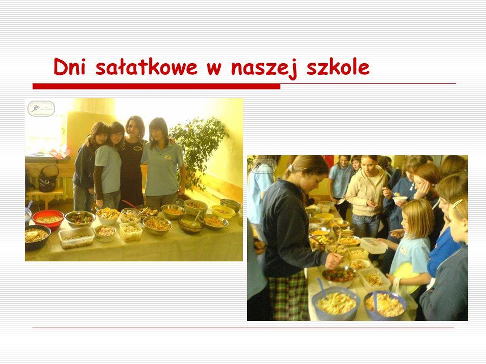 Dni sałatkowe w naszej szkole