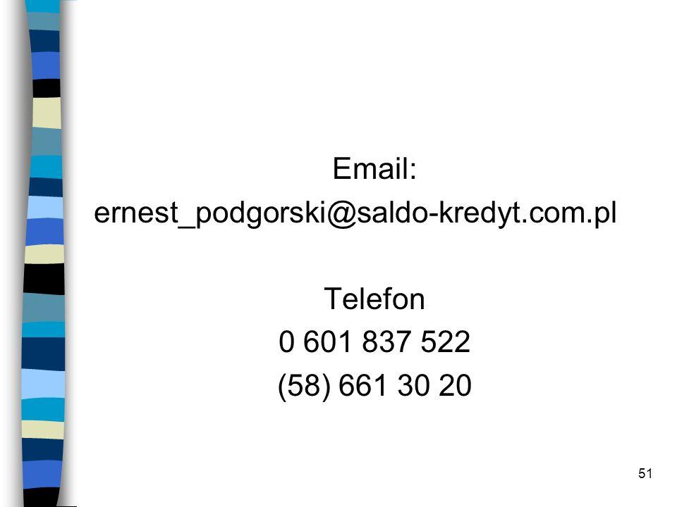 51 Email: ernest_podgorski@saldo-kredyt.com.pl Telefon 0 601 837 522 (58) 661 30 20