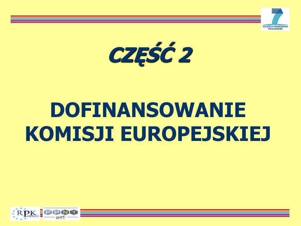 CZĘŚĆ 2 DOFINANSOWANIE KOMISJI EUROPEJSKIEJ