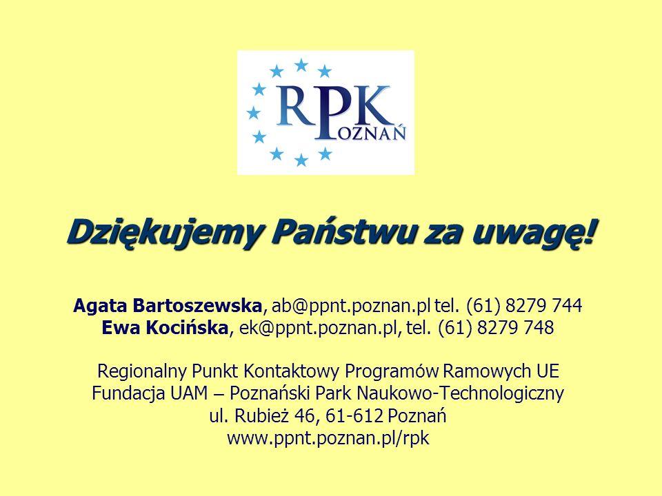 Agata Bartoszewska, ab@ppnt.poznan.pl tel. (61) 8279 744 Ewa Kocińska, ek@ppnt.poznan.pl, tel.