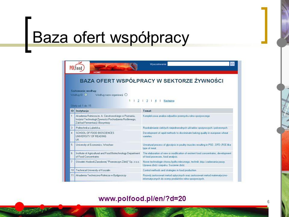 6 Baza ofert współpracy www.polfood.pl/en/ d=20