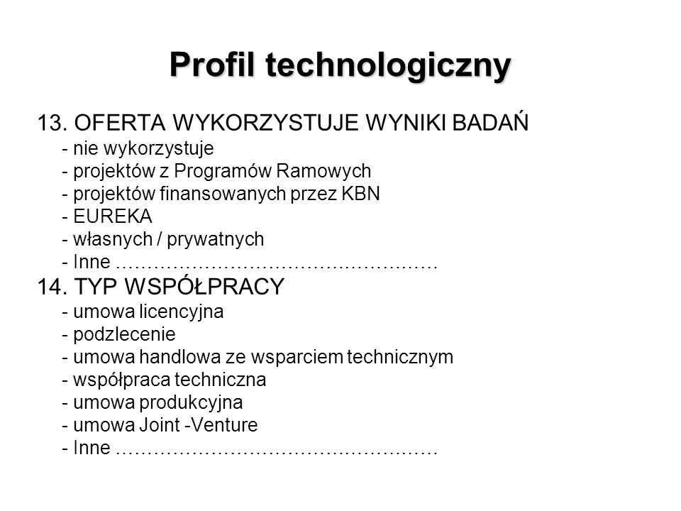 Profil technologiczny 13.