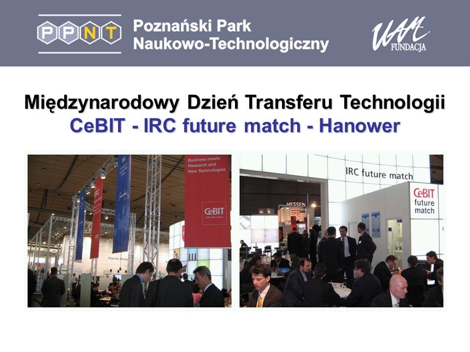 Międzynarodowy Dzień Transferu Technologii CeBIT - IRC future match - Hanower