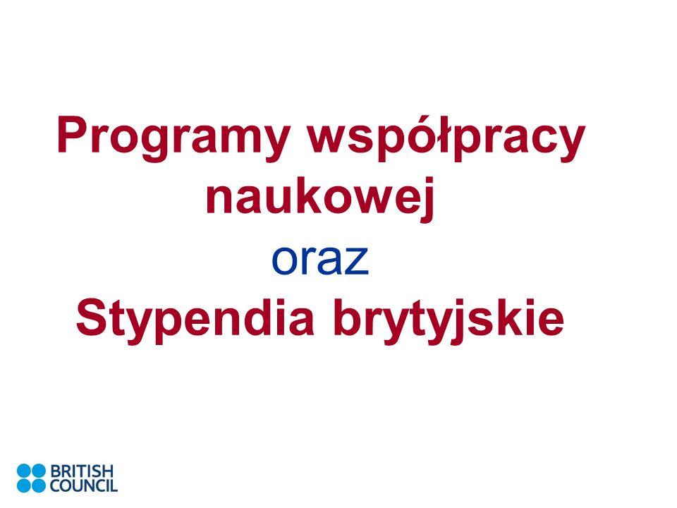 Programy współpracy naukowej oraz Stypendia brytyjskie