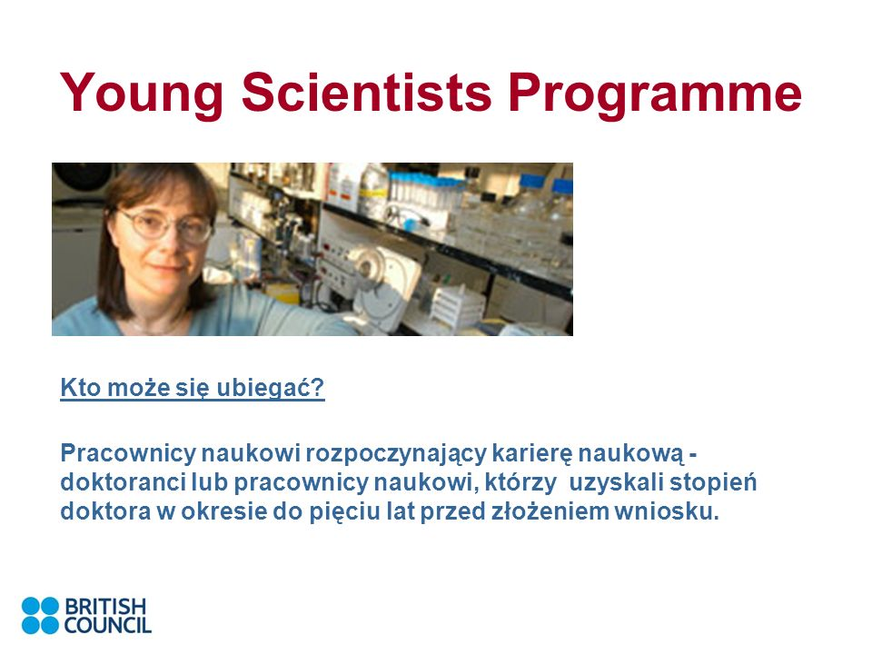 Young Scientists Programme Kto może się ubiegać.