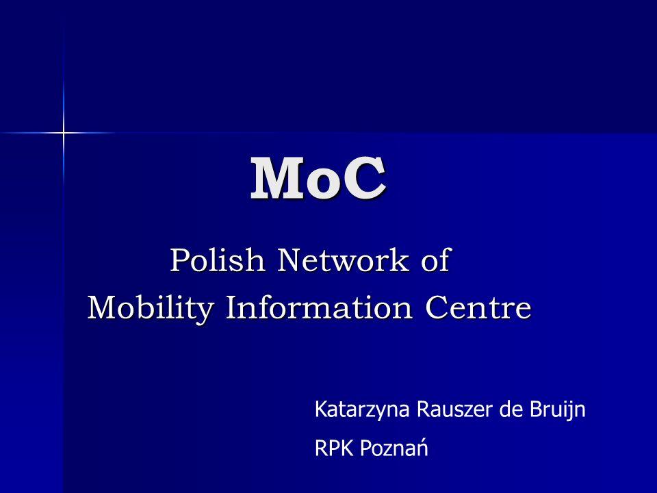 MoC Polish Network of Mobility Information Centre Katarzyna Rauszer de Bruijn RPK Poznań