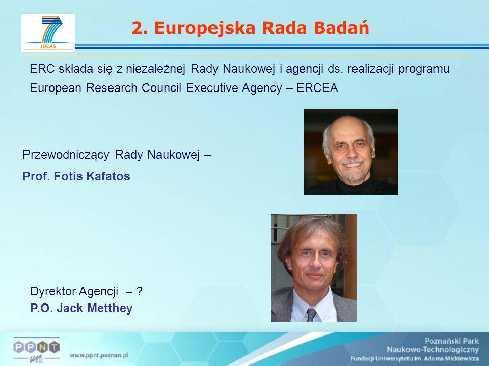 2. Europejska Rada Badań ERC składa się z niezależnej Rady Naukowej i agencji ds.