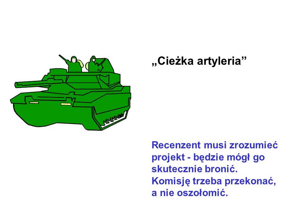 Cieżka artyleria Recenzent musi zrozumieć projekt - będzie mógł go skutecznie bronić.
