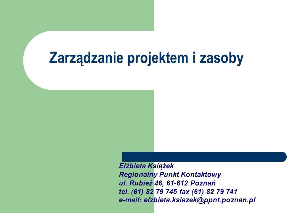 Elżbieta Książek Regionalny Punkt Kontaktowy ul. Rubież 46, 61-612 Poznań tel. (61) 82 79 745 fax (61) 82 79 741 e-mail: elzbieta.ksiazek@ppnt.poznan.