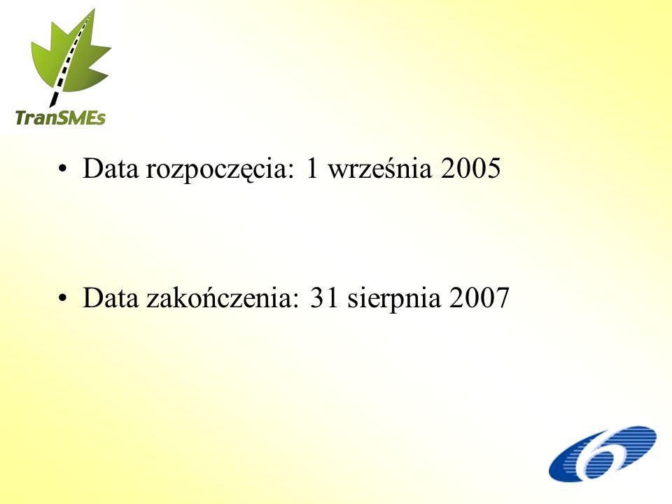 Data rozpoczęcia: 1 września 2005 Data zakończenia: 31 sierpnia 2007