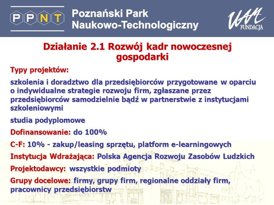 19 Priorytet 1 Konkurencyjność przedsiębiorstw (2) Wsparcie tworzenia nowych i rozwoju istniejących ośrodków wspierania przedsiębiorczości oraz ich sieci; tworzenie i rozwój inkubatorów przedsiębiorczości i parków Rozwój marketingu regionalnego; Wsparcie udziału przedsiębiorców w targach, misjach i wystawach Dotacje na tworzenie i rozwój powiązań kooperacyjnych przedsiębiorców, tzw.