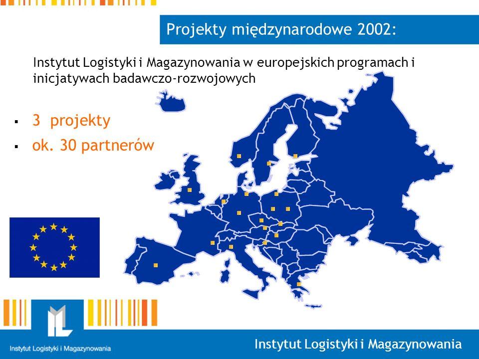 Instytut Logistyki i Magazynowania Projekty międzynarodowe 2002: 3 projekty ok.