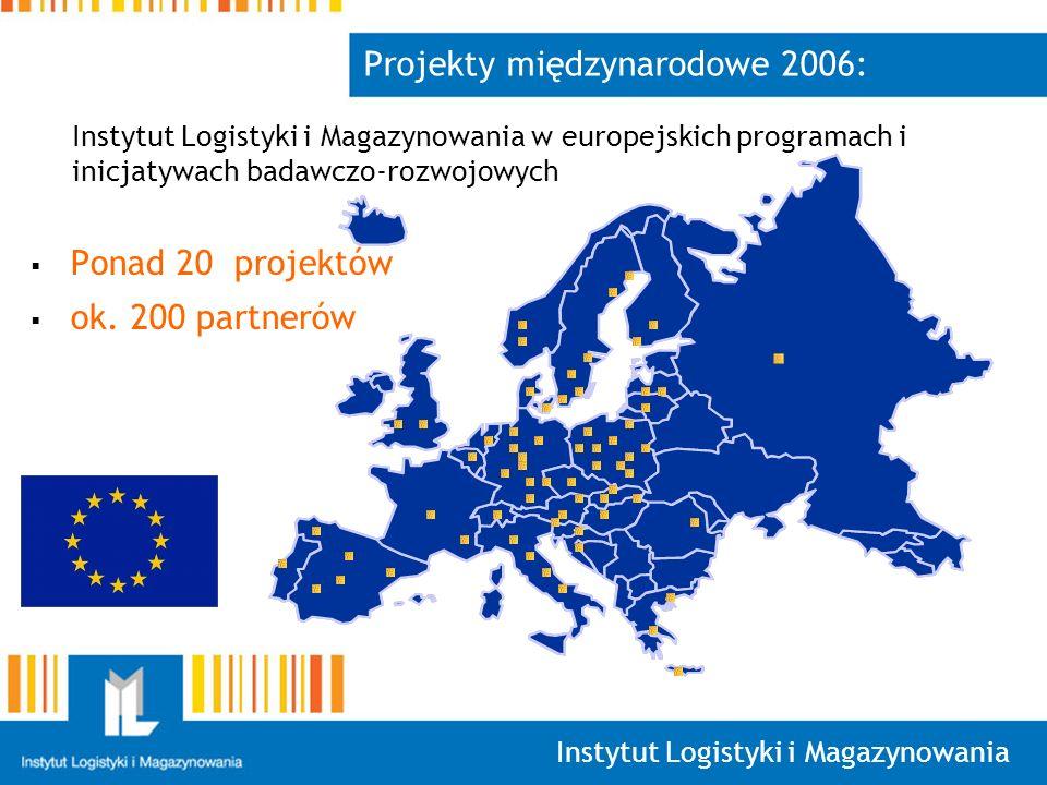 Instytut Logistyki i Magazynowania Projekty międzynarodowe 2006: Ponad 20 projektów ok.