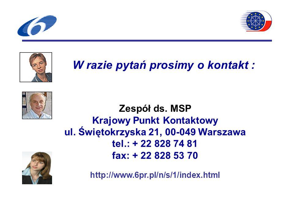 Zespół ds. MSP Krajowy Punkt Kontaktowy ul.