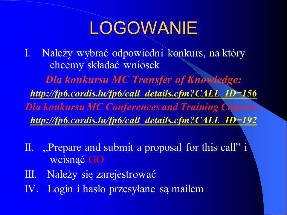 LOGOWANIE I.