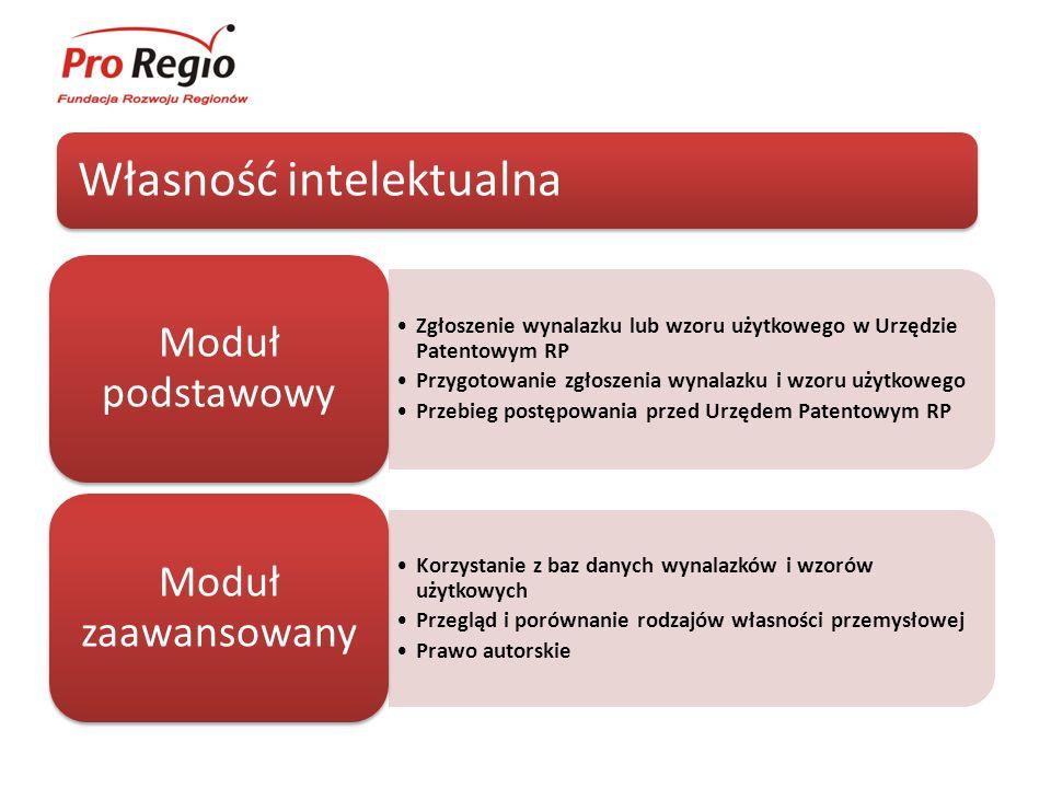 Własność intelektualna Zgłoszenie wynalazku lub wzoru użytkowego w Urzędzie Patentowym RP Przygotowanie zgłoszenia wynalazku i wzoru użytkowego Przebi