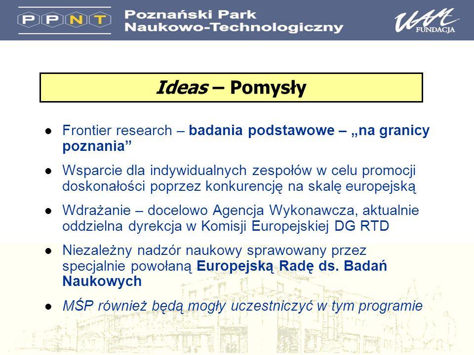 Wsparcie dla indywidualnych zespołów Instytucja goszcząca musi być w UE lub kraju stowarzyszonym Wszystkie dziedziny nauki są kwalifikowane podejście oddolne (bottom-up) Jedyne kryterium oceny - DOSKONAŁOŚĆ Główny Badacz (Principal Investigator) i jego zespół + projekt Inwestowanie w talenty granty elastyczne, kierowane przez Głównego Badacza, który może sobie sam zorganizować zespół badawczy i wybrać temat, granty możliwe do przeniesienia Działania i zasady