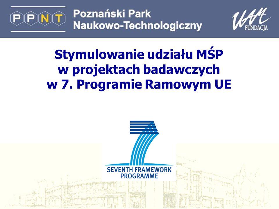 Stymulowanie udziału MŚP w projektach badawczych w 7. Programie Ramowym UE