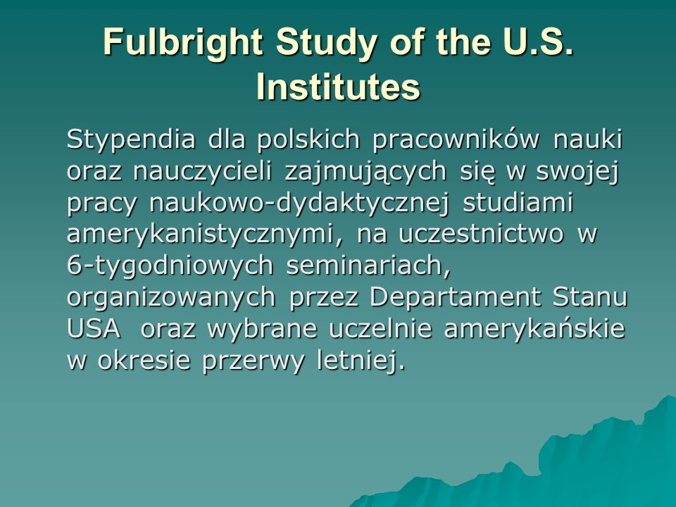 Fulbright Study of the U.S.