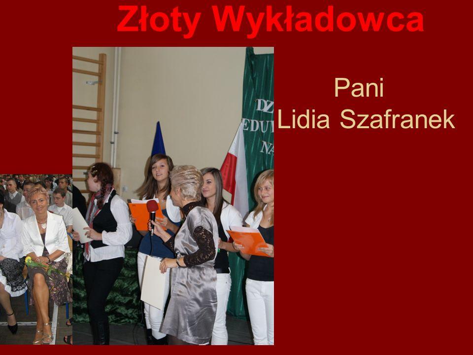 Złoty Wykładowca Pani Lidia Szafranek