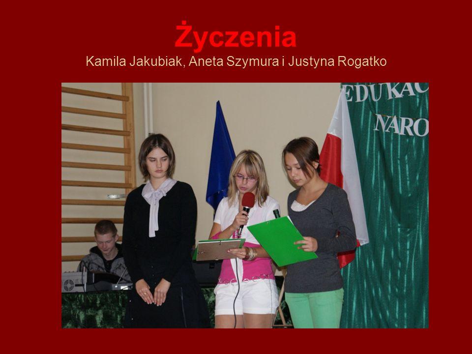 Życzenia Kamila Jakubiak, Aneta Szymura i Justyna Rogatko