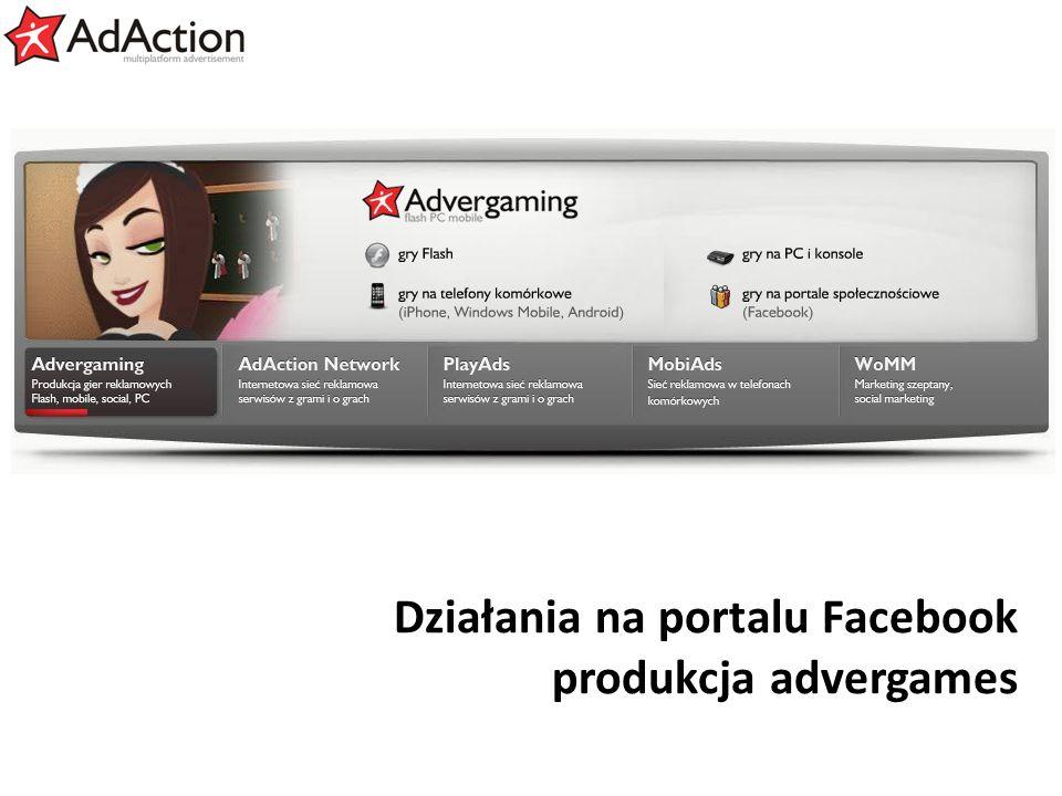 generujemy efekty Działania na portalu Facebook produkcja advergames