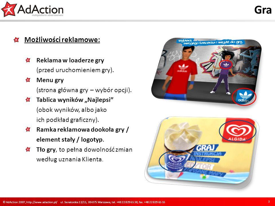 Gra Możliwości reklamowe: Reklama w loaderze gry (przed uruchomieniem gry).