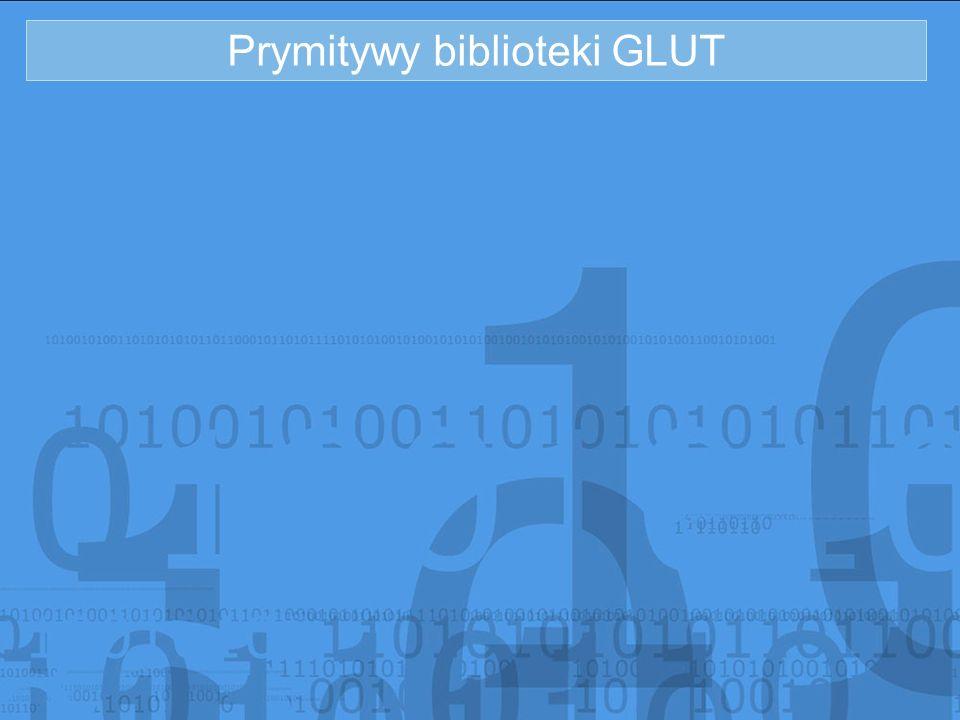 Prymitywy biblioteki GLUT