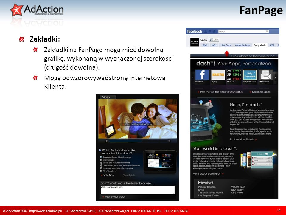 FanPage 14 © AdAction 2007, http://www.adaction.pl/ ul.