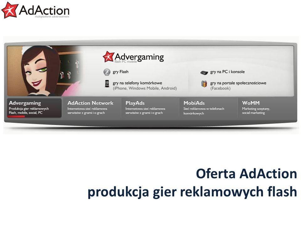 generujemy efekty Oferta AdAction produkcja gier reklamowych flash