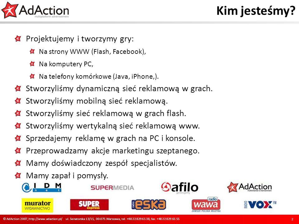 Kim jesteśmy? Projektujemy i tworzymy gry: Na strony WWW (Flash, Facebook), Na komputery PC, Na telefony komórkowe (Java, iPhone,). Stworzyliśmy dynam