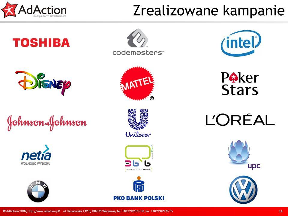 Zrealizowane kampanie 16 © AdAction 2007, http://www.adaction.pl/ ul.