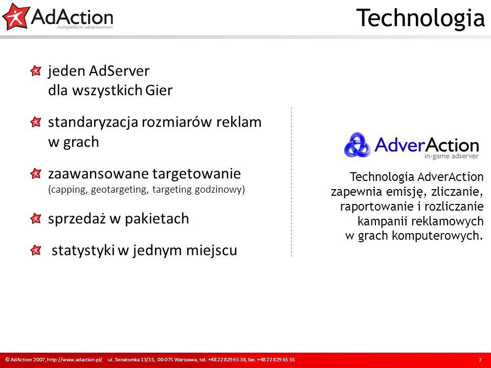 Podsumowanie korzyści 18 © AdAction 2007, http://www.adaction.pl/ ul.