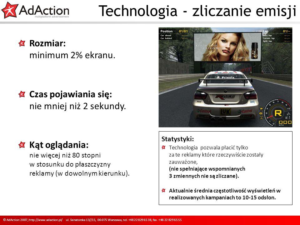Promocja oferty reklamowej 10 © AdAction 2007, http://www.adaction.pl/ ul.
