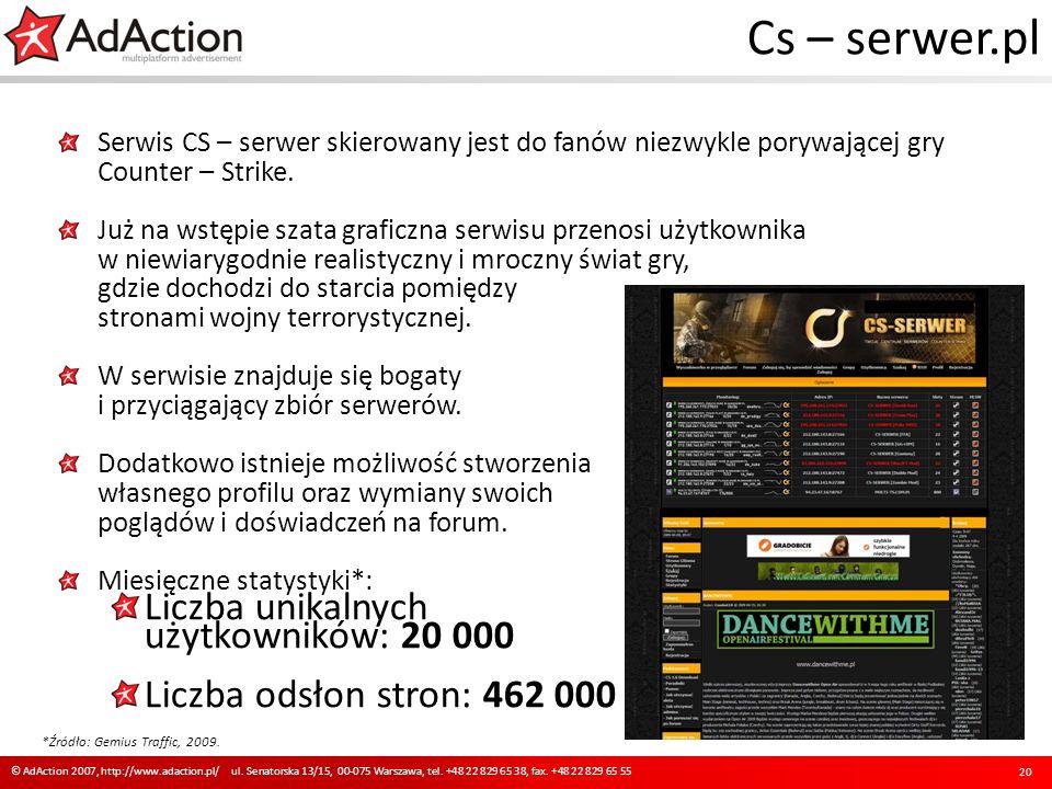 Cs – serwer.pl Serwis CS – serwer skierowany jest do fanów niezwykle porywającej gry Counter – Strike. Już na wstępie szata graficzna serwisu przenosi