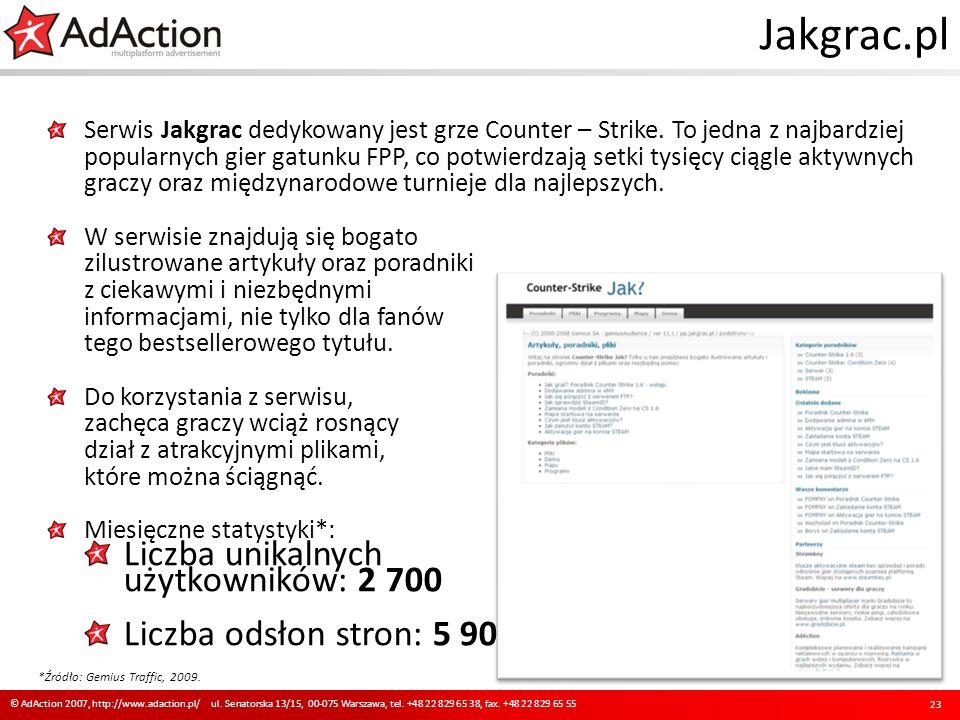 Jakgrac.pl Serwis Jakgrac dedykowany jest grze Counter – Strike. To jedna z najbardziej popularnych gier gatunku FPP, co potwierdzają setki tysięcy ci